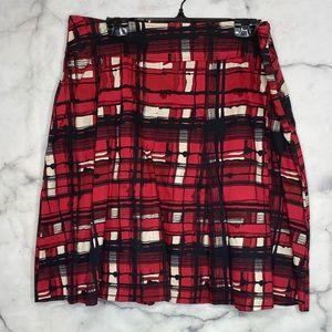 🚨3/$30🚨 New York & Company Skirt Red Black Cream